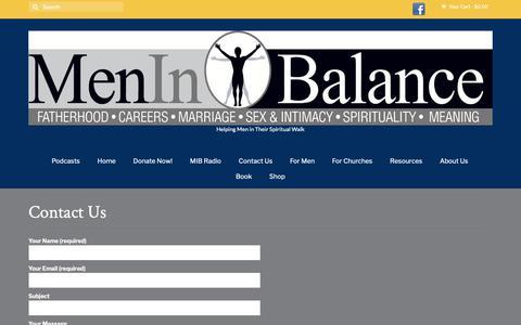 Screenshot of Contact Page meninbalance.org - Contact Us – Men in Balance - captured Nov. 6, 2018