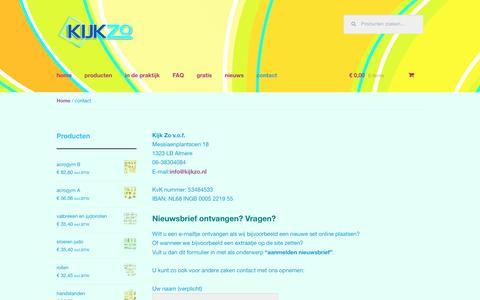 Screenshot of Contact Page kijkzo.nl - contact | Kijk Zo - captured Aug. 9, 2016
