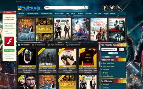 Screenshot of Home Page full-indir.gen.tr - Full indir - Film indir - Oyun indir | Full-indir.gen.tr - captured Sept. 23, 2014