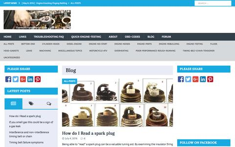 Screenshot of Blog dannysengineportal.com - Welcome to DannysEnginePortal.com-Blog - captured July 31, 2016