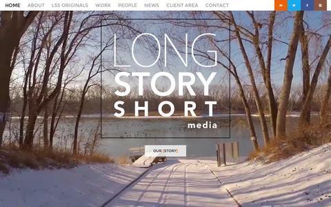 Screenshot of Home Page lssmedia.com - Long Story Short Media - Long Story Short Media Home - Long Story Short Media - captured Feb. 15, 2016