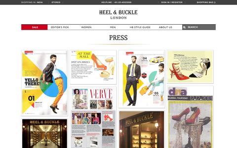 Screenshot of Press Page heelandbuckle.com - Press - captured Sept. 19, 2014