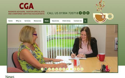 Screenshot of Press Page cga-york.co.uk - CGA York - Chartered Certified Accountants, York, UK - captured Aug. 12, 2015