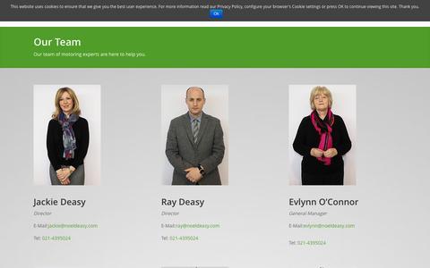 Screenshot of Team Page noeldeasy.com - Our Team of motoring experts - Staff - Noel Deasy Cars Ltd - captured Oct. 9, 2014