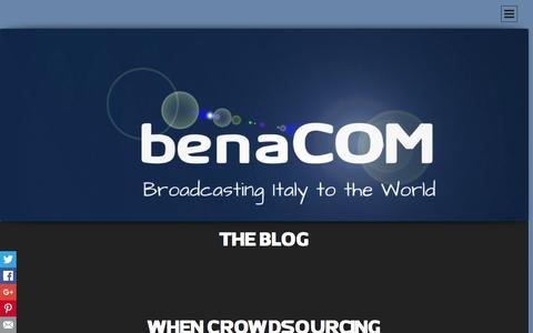Screenshot of Blog benacom.it - THE BLOG   - captured Jan. 7, 2016