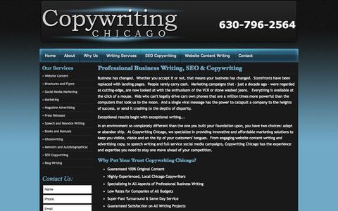 Screenshot of About Page copywritingchicago.com - About | Copywriting Chicago - captured Sept. 30, 2014