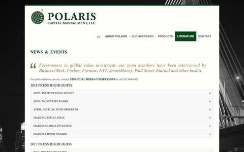Screenshot of Press Page polariscapital.com - Articles & Interviews | Polaris Capital - captured Sept. 28, 2018