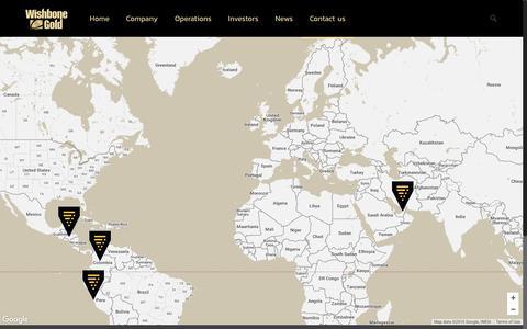Screenshot of Contact Page wishbonegold.com - Wishbone Gold Plc   Contact us - captured Nov. 30, 2016