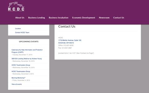 Screenshot of Contact Page hcdc.com - Contact Us - HCDC - captured Nov. 17, 2015