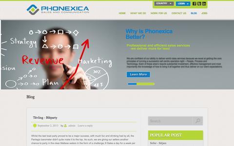 Screenshot of Blog phonexica.com - Blog | Phonexica - captured Sept. 29, 2014