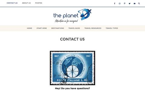 Screenshot of Contact Page theplanetd.com - Contact Us | - captured Aug. 12, 2019