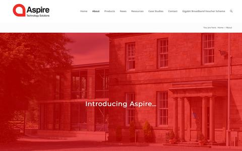Screenshot of About Page aspirets.com - About Aspire Technology Solutions | Aspire Technology Solutions - captured Oct. 4, 2018