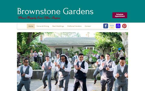 Screenshot of Home Page brownstonegardens.com - brownstonegardens - captured June 29, 2018