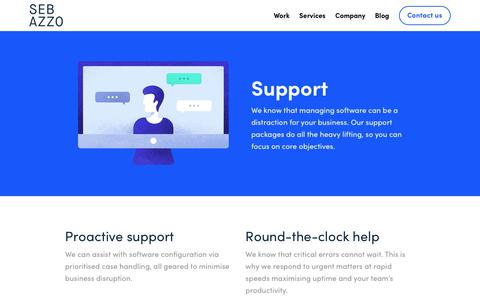 Screenshot of Support Page sebazzo.com - Support - Seb Azzo - captured July 28, 2018