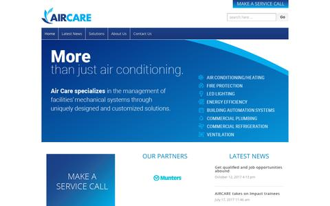 Screenshot of Home Page aircare.bm - AIRCARE - captured Oct. 3, 2018