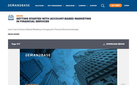 Screenshot of Services Page demandbase.com - Getting Started with Account-based Marketing in Financial Services | Account-Based Marketing – Demandbase - captured Nov. 6, 2019