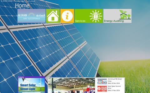 Screenshot of alemadisolar.com - AL EMADI SOLAR | العمادي لتقنيات الطاقة الشمسية - captured Dec. 22, 2015