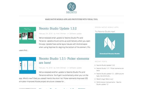 Neonto: Make native mobile apps and prototypes with visual tool