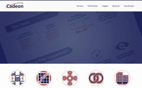 Screenshot of Home Page cadeon.com - Home - Cadeon AssociatesCadeon Associates - captured Jan. 24, 2016