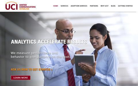Screenshot of Home Page ucinterlink.com - Chicago Cisco Training Company | Cisco Adoption Services  - UC Interlink, Inc. - captured Feb. 3, 2016