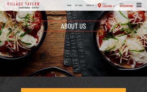 Screenshot of About Page villagetavern.com - Our Story   Village Tavern - captured Oct. 18, 2018