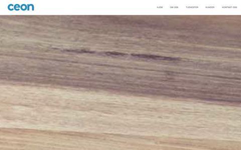 Screenshot of Home Page ceon.no - CEON | Din WordPress leverandør - captured Sept. 26, 2014
