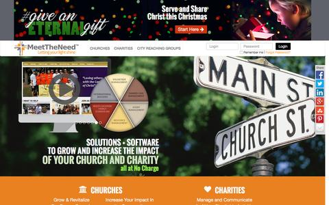 Screenshot of Home Page meettheneed.org - Meet The Need - Give the gift of Christ this Christmas - #GiveAnEternalGift - Meet The Need - captured Nov. 19, 2016