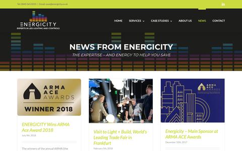 Screenshot of Press Page energicity.co.uk - News - Energicity - captured Sept. 28, 2018