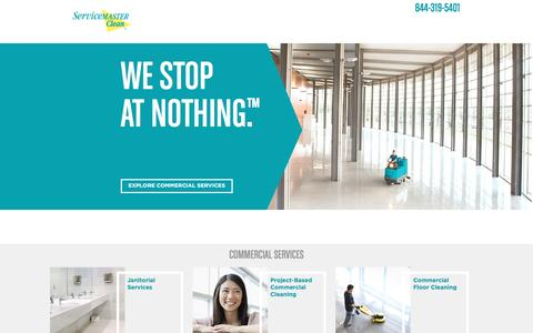 Screenshot of Home Page servicemasterclean.com - Commercial, Janitorial  and Residential Cleaning Services | ServiceMaster Clean - captured June 8, 2016