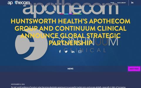 Screenshot of Press Page apothecom.com captured Jan. 7, 2017