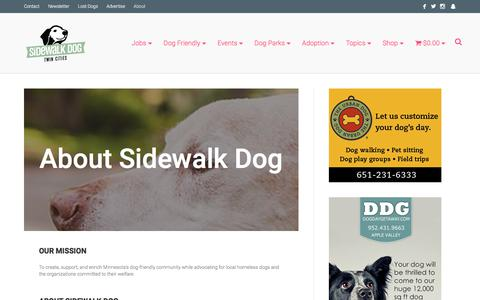 Screenshot of About Page sidewalkdog.com - About Sidewalk Dog - Sidewalk Dog - captured Oct. 20, 2017