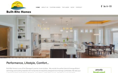 Screenshot of Home Page builtritehomes.ca - Built-Rite Homes - captured July 30, 2016