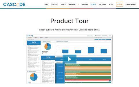 Screenshot of executestrategy.net - Cascade Strategy Product Tour | Cascade Strategy - captured Dec. 7, 2017