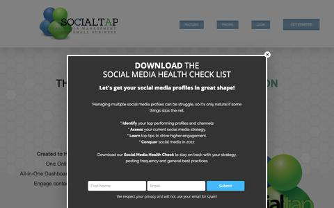 Screenshot of Home Page social-tap.com - Social Media Management Tools for Vancouver, Wa - captured Jan. 11, 2018