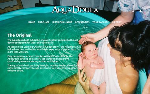 Screenshot of Home Page aquadoula.com - AquaDoula Birth Tub | Portable Birth Pool | Heated Birthing Tubs | WaterBirth Birthing Pools by AquaDoula.com - captured June 30, 2018