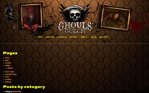 Screenshot of Site Map Page ghoulsgulch.com - Haunted House Colorado Springs | Sitemap | Haunted House Colorado Springs - captured Oct. 28, 2014