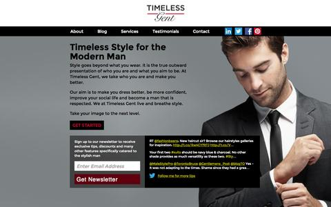 Screenshot of Home Page timelessgent.com - Timeless Gent - captured Oct. 7, 2014