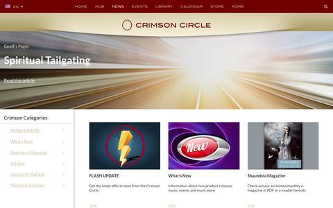 Screenshot of Press Page crimsoncircle.com - News - captured Sept. 2, 2016
