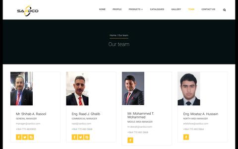 Screenshot of Team Page sardco.com - Our team | SARDCOSARDCO - captured Nov. 12, 2018