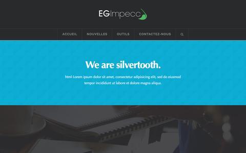 Screenshot of About Page egimpecc.com - About | E.G. Impecc - captured July 9, 2016