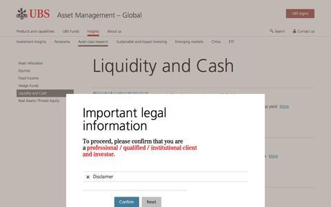 Screenshot of Team Page ubs.com - Liquidity and Cash | UBS Global topics - captured Nov. 14, 2019