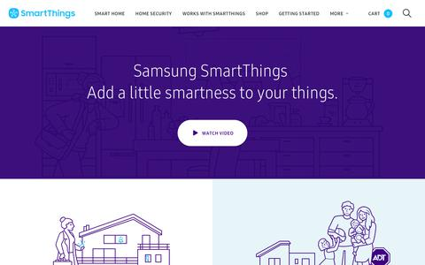 Screenshot of Home Page smartthings.com - SmartThings - captured June 17, 2018