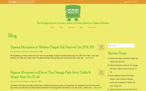 Screenshot of Blog pajamamonsters.com - Blog – Pajama Monsters - captured May 13, 2017