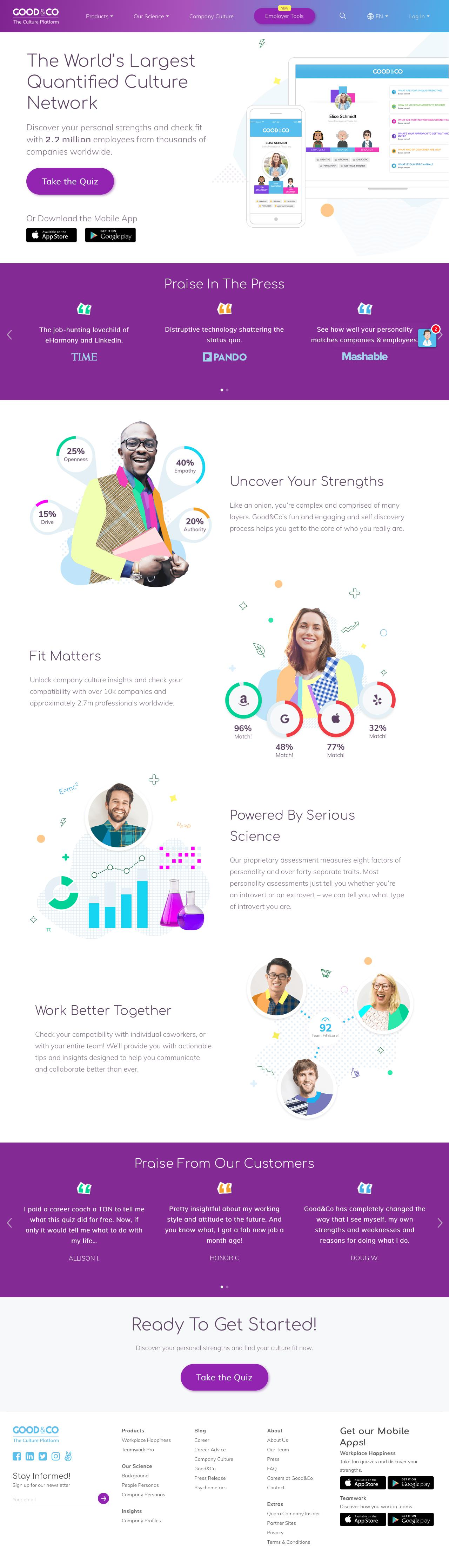 Screenshot of good.co - Good&Co: A New Workplace Platform for the modern era! - captured May 26, 2018
