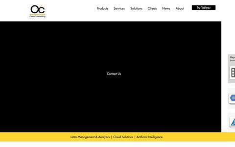 Screenshot of Home Page oakconsulting.com.sg - Oak Consulting | Data Management & Analytics | Cloud | Tableau Partner - captured Nov. 17, 2018