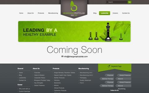 Screenshot of Team Page bhargavaphytolab.com - .:: Bhargava Phytolab ::. - captured Oct. 5, 2014