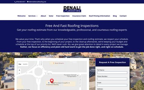 Screenshot of Contact Page denaliroofs.com - Roofing Estimate Free And Fast - Loveland Roofers - captured Nov. 24, 2016