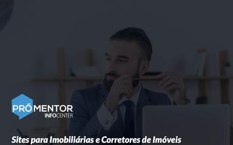 Screenshot of Home Page icinformatica.com.br - Sites para Imobiliárias e Corretores de Imóveis - IC InfoCenter - captured Dec. 19, 2017