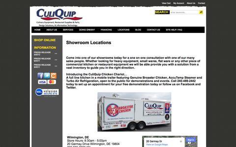 Screenshot of Locations Page culiquip.com captured Sept. 30, 2014