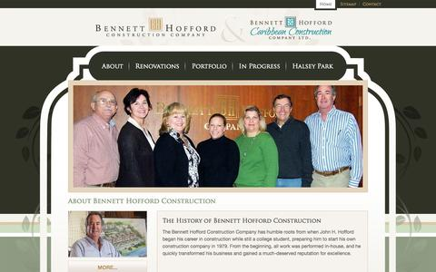 Screenshot of About Page bennetthoffordconstruction.com - About Bennett Hofford Construction - captured Oct. 5, 2014